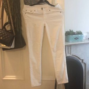 Jcrew white toothpick ankle jeans